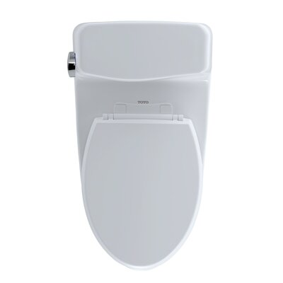 Supreme� Eco 1.28 GPF Elongated One-Piece Toilet Toilet Finish: Colonial White