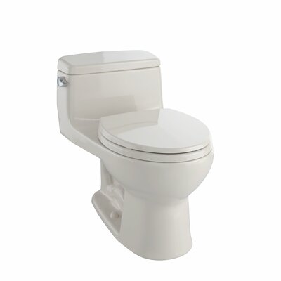 Supreme� Eco 1.28 GPF Round One-Piece Toilet Toilet Finish: Cotton