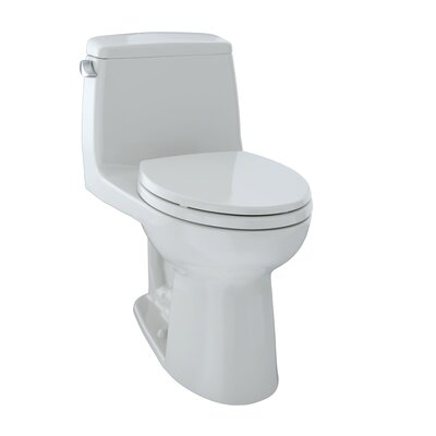 Ultramax ADA Compliant Low Consumption 1.6 GPF Elongated One-Piece Toilet Toilet Finish: Colonial White, Trip Lever Orientation: Left-Hand