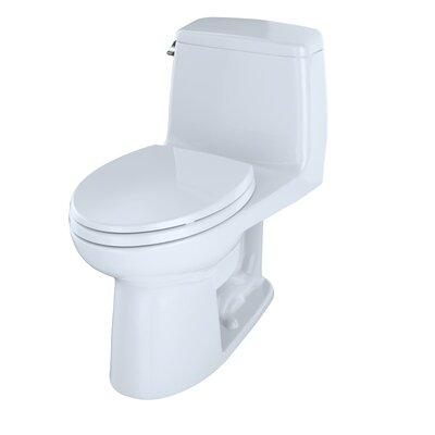 UltraMax� Eco 1.28 GPF Elongated One-Piece Toilet Finish: Cotton, Lever Location: Left-Hand