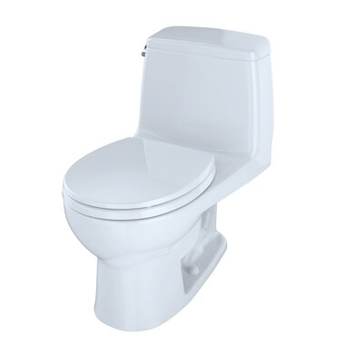 Ultimate Power Gravity Low Consumption 1.6 GPF Round One-Piece Toilet Toilet Finish: Cotton