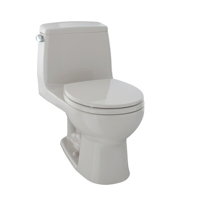 UltraMax Eco 1.28 GPF Round One-Piece Toilet Toilet Finish: Colonial White