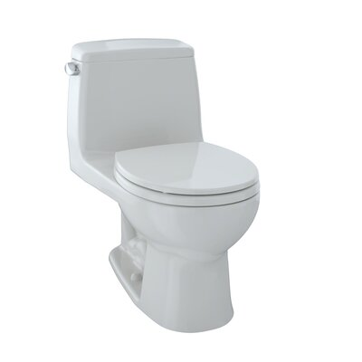 Ultimate Power Gravity Low Consumption 1.6 GPF Elongated One-Piece Toilet Toilet Finish: Colonial White
