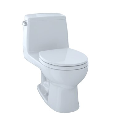 UltraMax Eco 1.28 GPF Round One-Piece Toilet Toilet Finish: Cotton