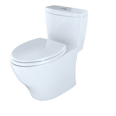 Aquia Dual Flush Elongated One-Piece Toilet Finish: Cotton White