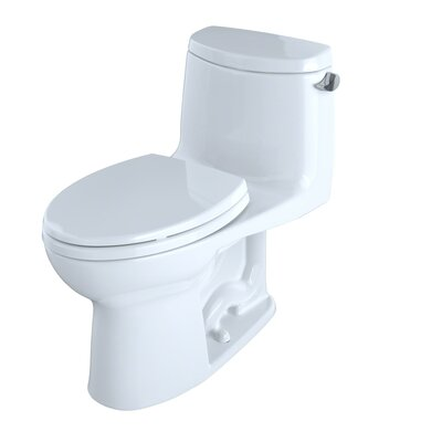 Ultramax II 1.28 GPF Elongated One-Piece Toilet Finish: Cotton, Flush: Right