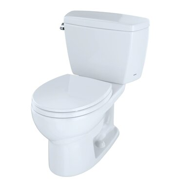 Drake 1.6 GPF Round Two-Piece Toilet Toilet Finish: Cotton, Trip Lever Orientation: Left-Hand