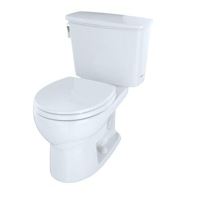 Drake 1.28 GPF Round Two-Piece Toilet Finish: Colonial White