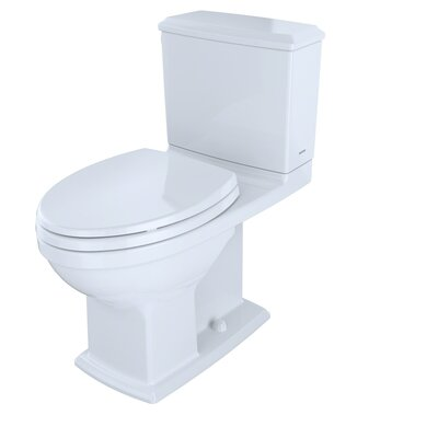 Connelly 1.28 GPF Elongated Two-Piece Toilet Finish: Cotton White