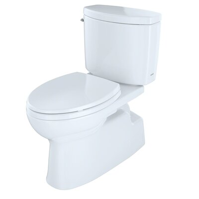Vespin II High Efficiency 1.28 GPF Elongated Two-Piece Toilet Toilet Finish: Cotton