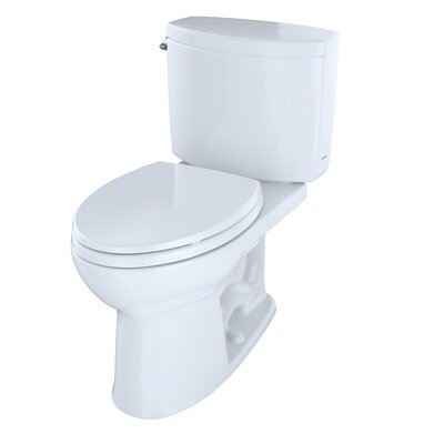 Drake II 1.28 GPF Elongated Two-Piece Toilet Toilet Finish: Cotton