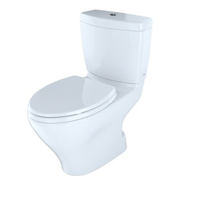 Aquia II Dual Flush Elongated Two-Piece Toilet Toilet Finish: Cotton