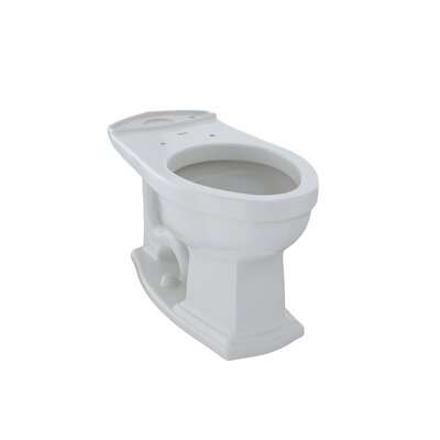 Clayton ADA Compliant 1.6 GPF Elongated Toilet Bowl Toilet Finish: Colonial White