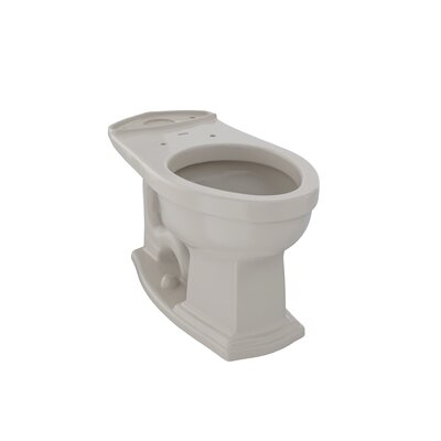 Clayton ADA Compliant 1.6 GPF Elongated Toilet Bowl Toilet Finish: Bone
