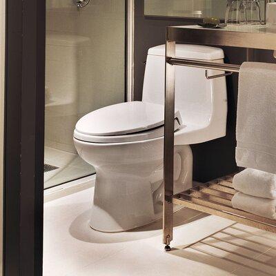 Ultimate Power Gravity Low Consumption 1.6 GPF Elongated One-Piece Toilet Toilet Finish: Bone