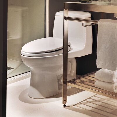Ultimate Power Gravity Low Consumption 1.6 GPF Elongated One-Piece Toilet Toilet Finish: Sedona Beige
