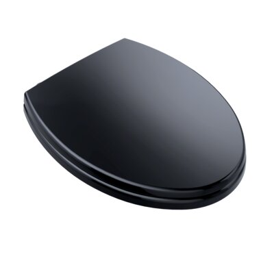 SoftClose Elongated Toilet Seat Seat Finish: Ebony