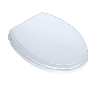 SoftClose Elongated Edged Lid Toilet Seat Seat Finish: Cotton