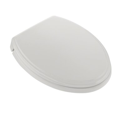SoftClose Elongated Edged Lid Toilet Seat Seat Finish: Colonial White