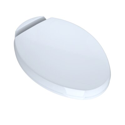 SoftClose Elongated Beveled Lid Toilet Seat Seat Finish: Cotton