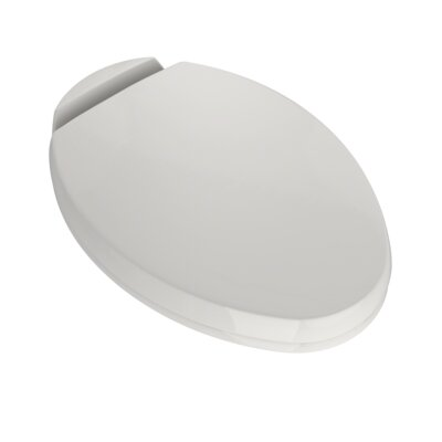 SoftClose Elongated Beveled Lid Toilet Seat Seat Finish: Colonial White