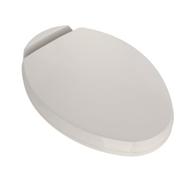 SoftClose Elongated Beveled Lid Toilet Seat Seat Finish: Sedona Beige