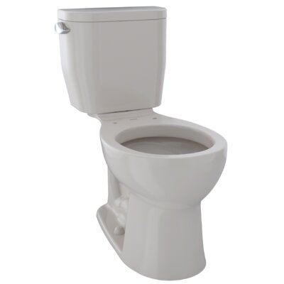 Entrada� Dual Flush Round Two-Piece Toilet