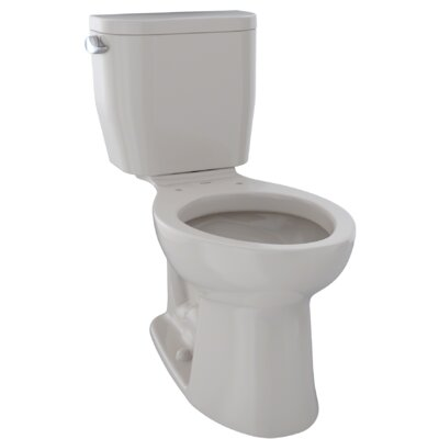 Entrada 1.28 GPF Elongated Two-Piece Toilet Finish: Cotton