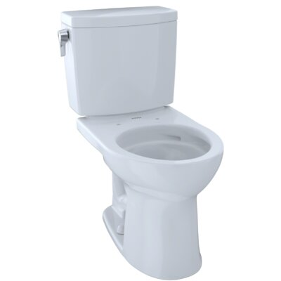 Drake� II 1 GPF Round Two-Piece Toilet Finish: Cotton White