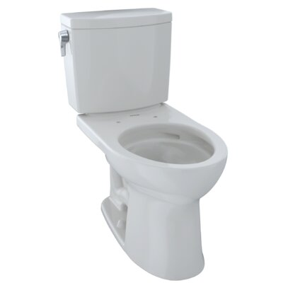 Drake� II 1 GPF Elongated Two-Piece Toilet Finish: Colonial White