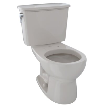 Drake 1.28 GPF Round Two-Piece Toilet Finish: Sedona Beige