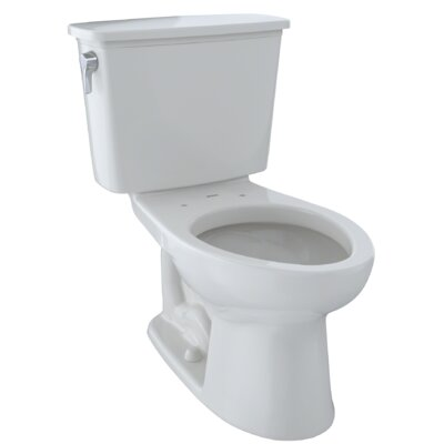 Drake 1.28 GPF Elongated Two-Piece Toilet Finish: Colonial White