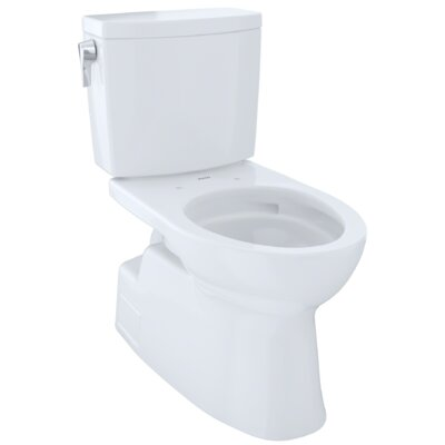 Vespin� II 1 GPF Elongated Two-Piece Toilet Finish: Cotton White