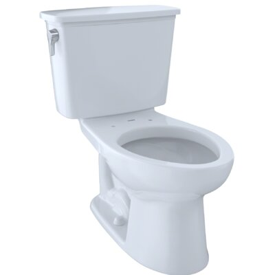 Eco Drake� Transitional Dual Flush Elongated Two-Piece Toilet Finish: Cotton White