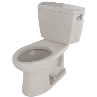 Drake� Dual Flush Elongated Two-Piece Toilet Finish: Bone