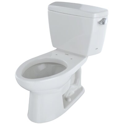 Drake� Dual Flush Elongated Two-Piece Toilet Finish: Colonial White