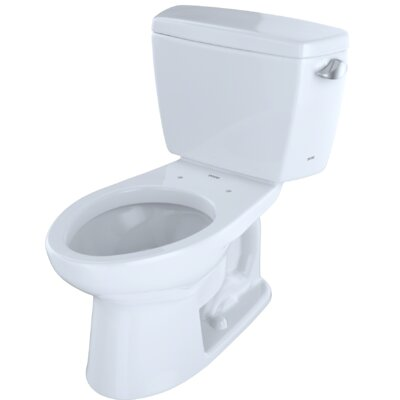 Drake� Dual Flush Elongated Two-Piece Toilet Finish: Cotton White