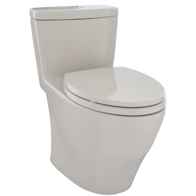 Aquia� 1.6 GPF Dual Flush Elongated One-Piece Toilet Finish: Bone