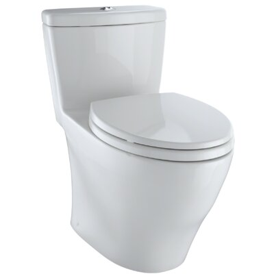 Aquia� 1.6 GPF Dual Flush Elongated One-Piece Toilet Finish: Colonial White