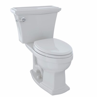 Clayton 1.6 GPF Elongated Two-Piece Toilet Toilet Finish: Colonial White