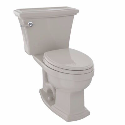 Clayton 1.6 GPF Elongated Two-Piece Toilet Toilet Finish: Bone