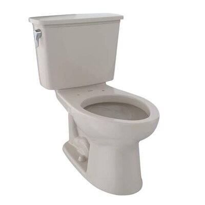 Eco Drake� Dual Flush Elongated Two-Piece Toilet Finish: Bone