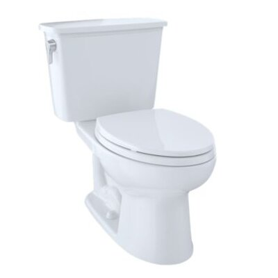 Eco Drake� Transitional Dual Flush Elongated Two-Piece Toilet Finish: Bone
