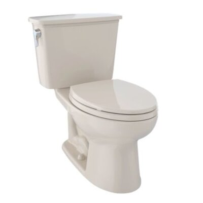 Eco Drake� Dual Flush Elongated Two-Piece Toilet Finish: Ebony
