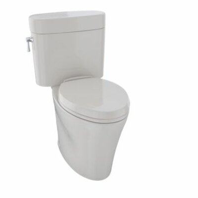 Nexus 1.28 GPF Elongated Two-Piece Toilet Finish: Colonial White
