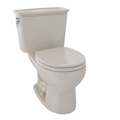 Eco Drake� 1.28 GPF Dual Flush Elongated Two-Piece Toilet Finish: Colonial White