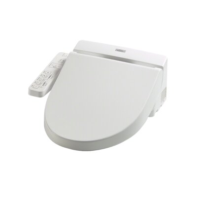 Washlet  C100 Round Toilet Seat Bidet Finish: Cotton White
