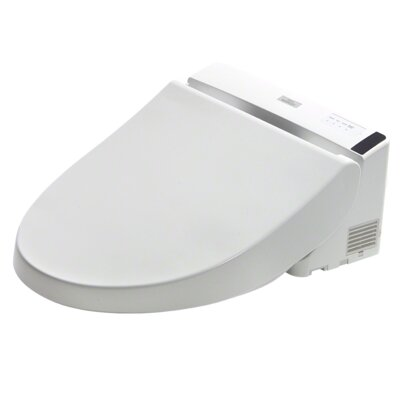 Washlet Elongated Toilet Seat Bidet Finish: Cotton White