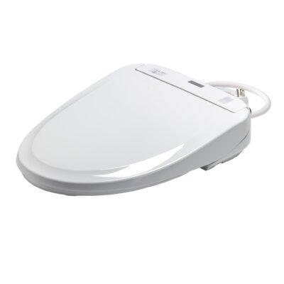 Washlet Elongated Toilet Seat Bidet Toilet Finish: Cotton