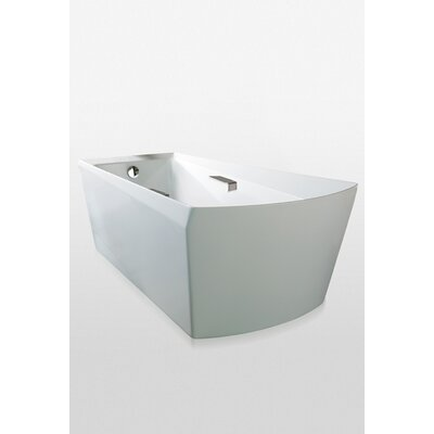Soiree 72 x 40  Soaking Bathtub Drain Finish: Brushed Nickel